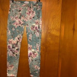 7 for all mankind floral skinny jeans 30/ us 10